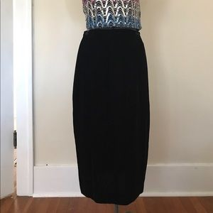 Vintage Liz Claiborne Silk Velvet Skirt